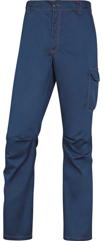 Picture of Work Trousers Stretch PANOSTRPA Navy blue-Orange