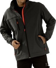 Picture of Crest Softshell Jacket 3496 / Black