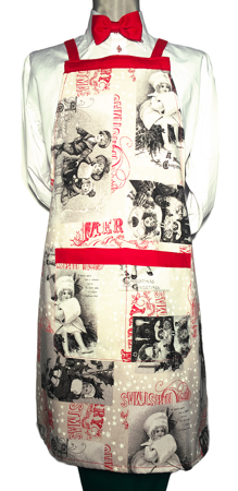 Picture of Bib Apron with Cross backside Christmas Santa