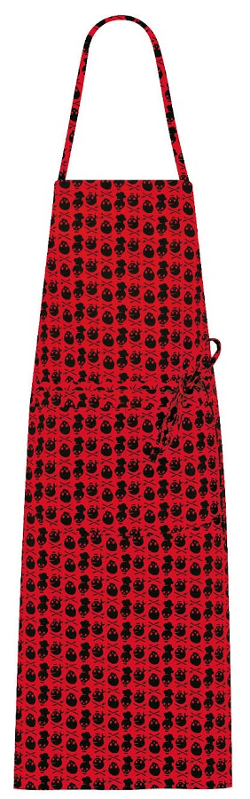 Picture of Lima Bib  Apron 1647 Skull