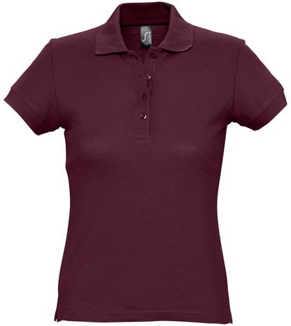 Picture of Women's polo shirt PASSION / Burgundy