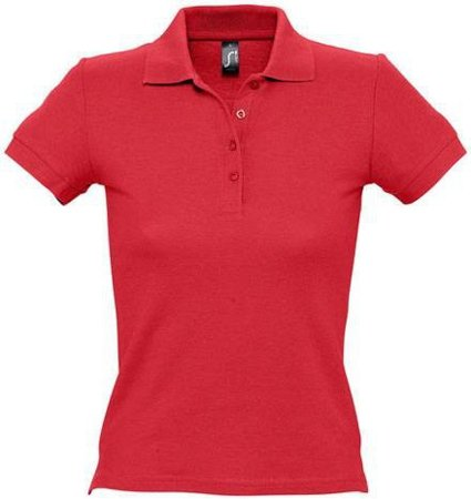 Picture of Women's Polo Shirt PEOPLE / Red