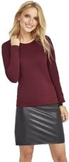 Picture of Women's Shirt MAJESTIC / Oxblood