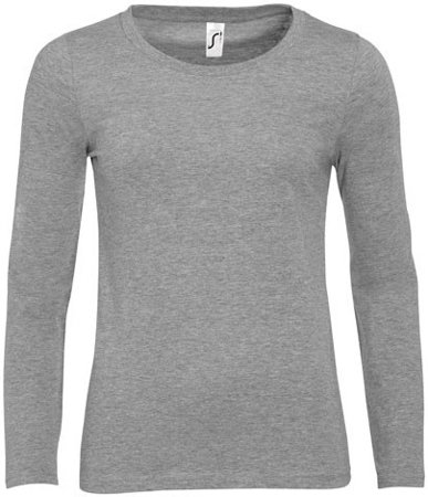 Picture of Women's Shirt MAJESTIC / Grey Melange