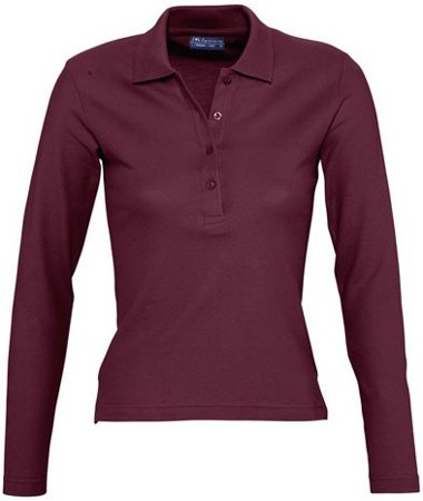 Picture of Women's Polo shirt PODIUM / Burgundy