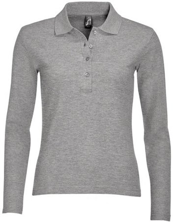 Picture of Women's Polo shirt PODIUM / Grey Melange