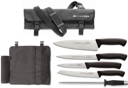 Picture of Chef forged Knives - 5 Piece Set with Carrying Case, Ideal for Students