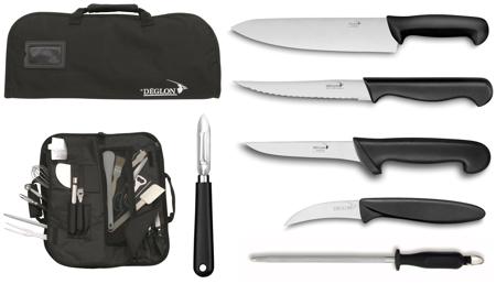 Picture of Chef forged Knives Deglon - 6 Piece Set with Carrying Case, Ideal for Students