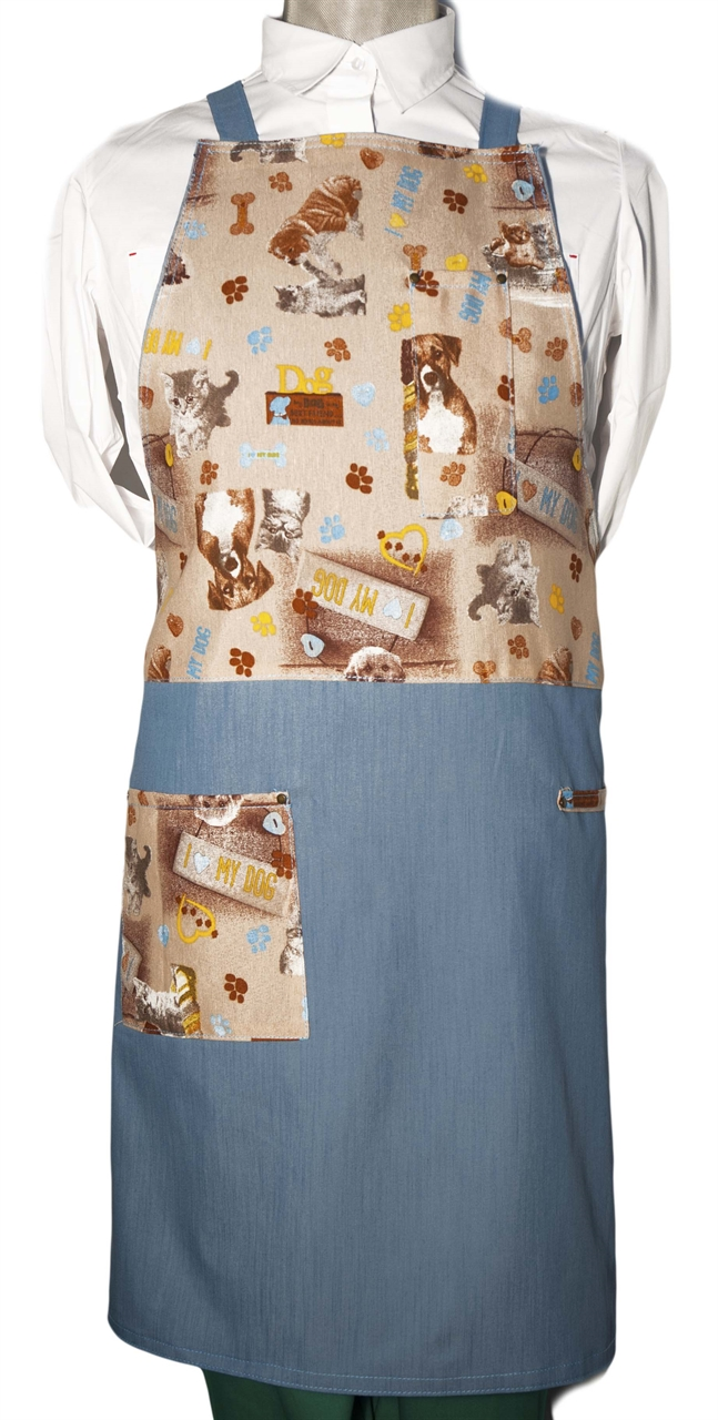 Picture of Bib Apron Barista with Cross backside / Best Friends