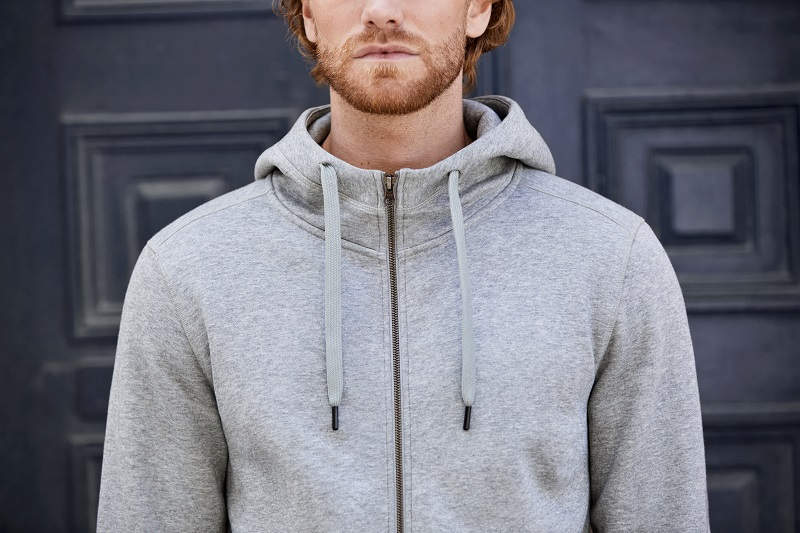 Picture of CORE full zip hoodie 0638 Grey Melange