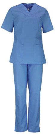 Picture of Women's Nursing Scrub Set / Blue Raf