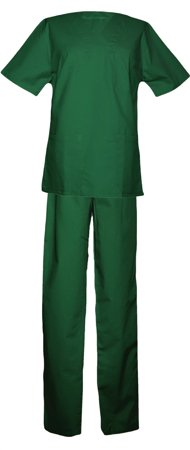 Picture of Women's Nursing Scrub Set Organic Cotton/ Green