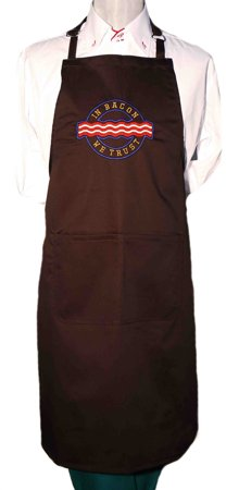 Picture of Bib Apron with embroidery / Bacon