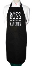 Picture of Bib Apron with embroidery / Boss of the Kitchen