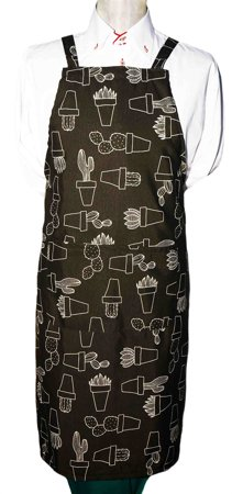 Picture of Bib Apron with embroidery / Cactus