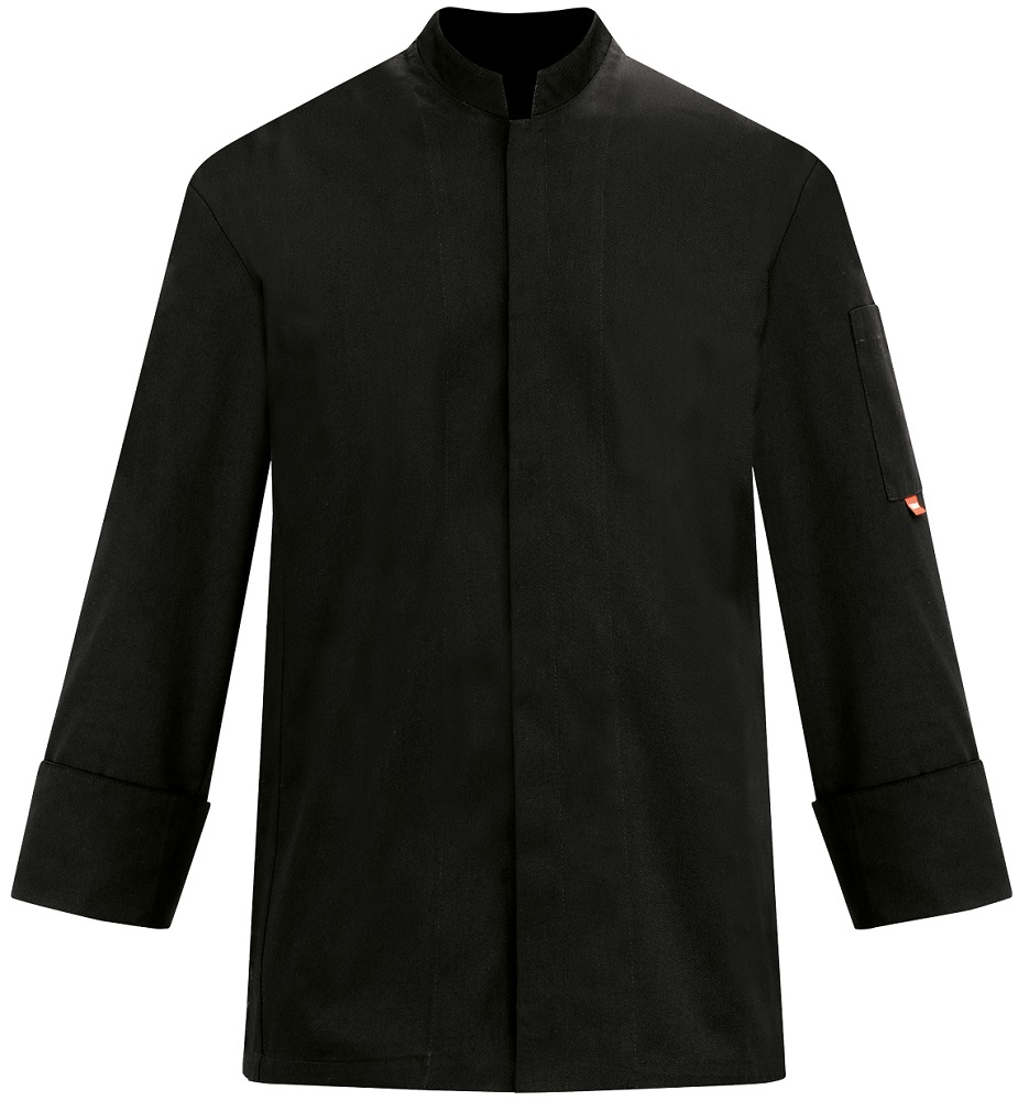 Picture of Chef Jacket Stand-Up Collar 100 GRAMS 1737 / Black
