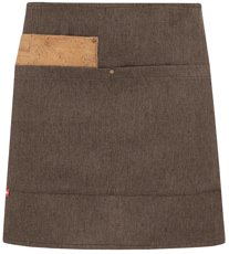 Picture of Bar Apron Shabby Short apron 1733 with cork / Brown