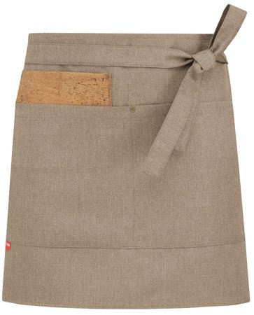 Picture of Bar Apron Shabby Short apron 1732 with cork / natural beige