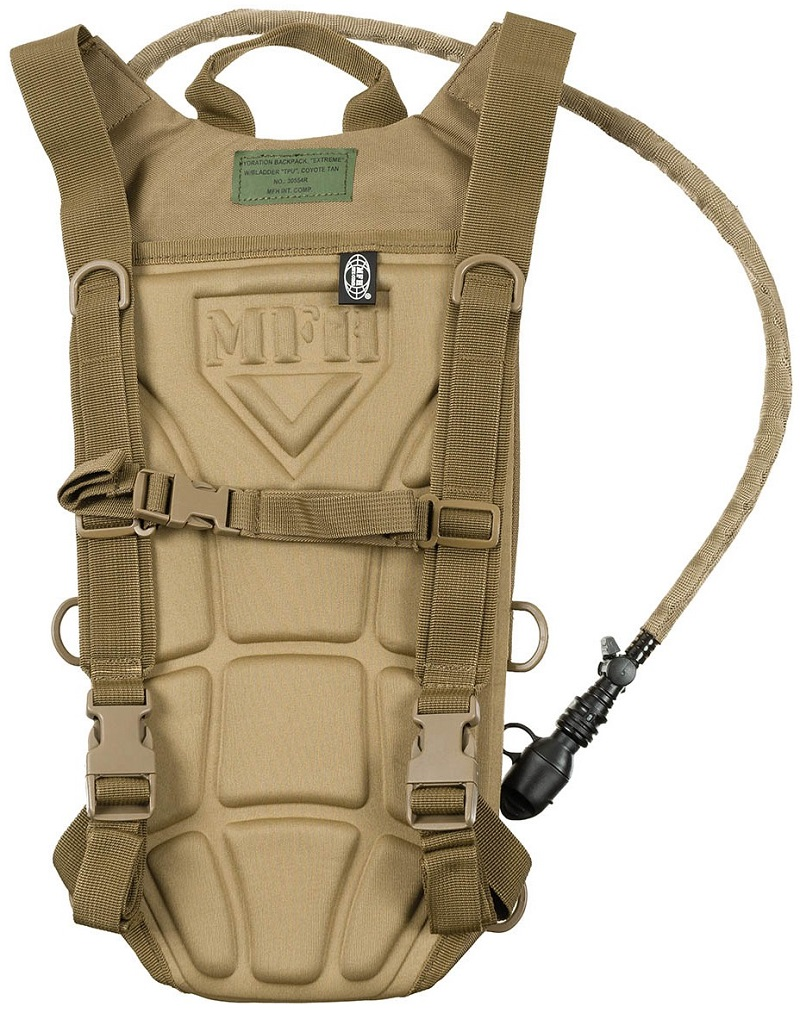 """Picture of Hydration Backpack, with TPU Bladder, """"Extreme"""", 2,5l, 30554R / Coyote tan"""