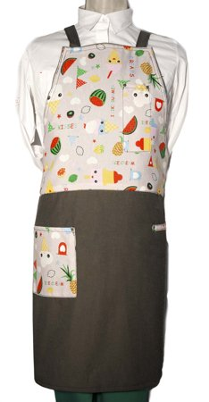 Picture of Bib Apron Barista with Cross backside /  Ice Babe