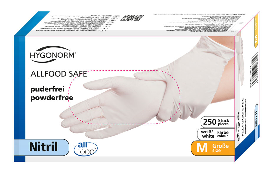 Picture of Nitrile gloves ALLFOOD SAFE / White, powder free