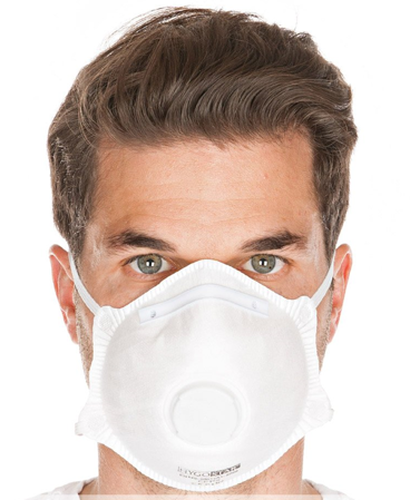 Picture of Respirator mask FFP2 NR with valve / 29330