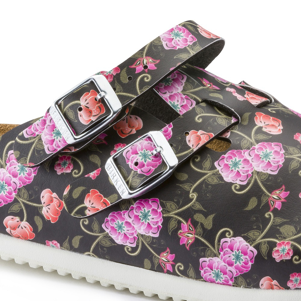 Picture of Clogs Kay SL Blooming Roses Black Soft leather