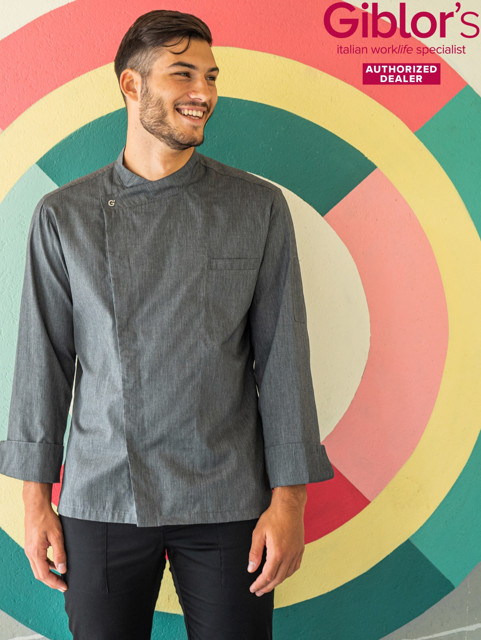 Picture of Chef's Jacket Johnny/ Grey